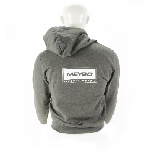 Meybo Logo Zipped Hoody V2 Grey Adult