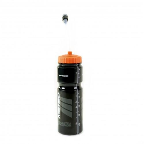 Meybo Bottle With Straw 700ml Black/Orange